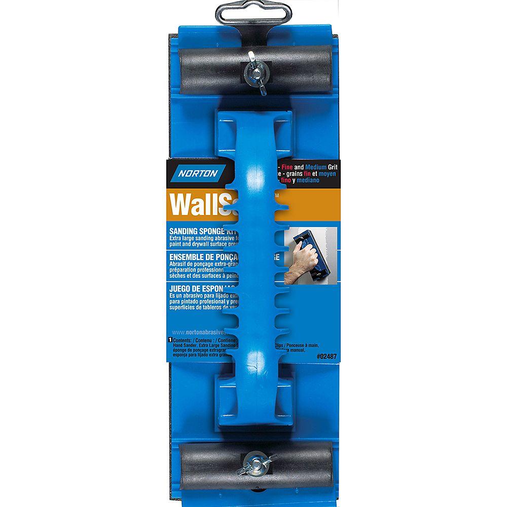 Norton WallSand Extra Large Hand Sander with Fine/Medium Sponge