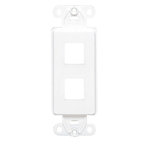 Leviton Cadre dinsertion QuickPort Decora, deux points de connexion, blanc