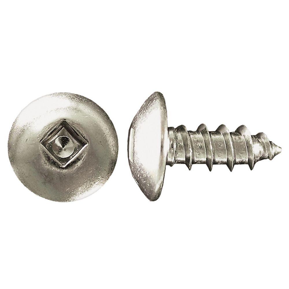 Paulin #10 x 1/2 -inch Truss Head Square Drive Steel Metal Screws Zinc Plated - 100pcs