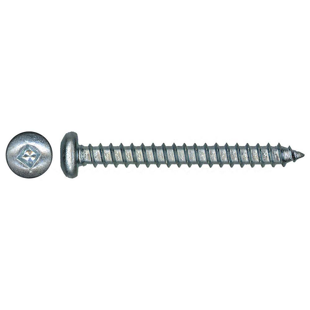 Paulin #4 x 1/2 -inch Pan Head Square Drive Steel Metal Screws Zinc Plated - 100pcs