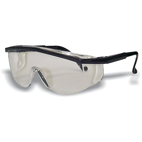 Workhorse Black Frame Safety Glass Clear Lens