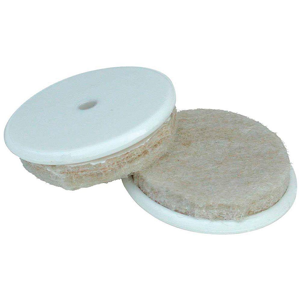 Everbilt Patins de meubles en feutre autoadhésifs robustes de 25 mm avec insertion en nylon, paquet de 8