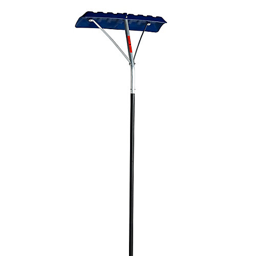 16-ft. Roof Rake with Anti-Slip Alu Handle and 24-inch Poly Blade