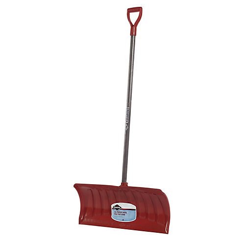 Garant 26-inch Snow Pusher with Wood Handle and Poly Blade