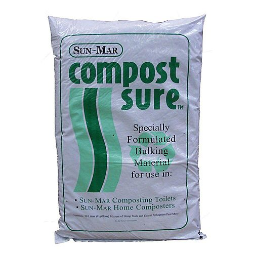 Compost Sure Bulking Material for Composting Toilet (Green)