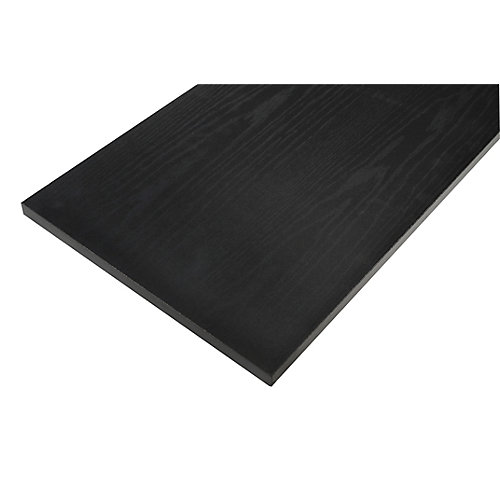 12 Inch X 36 Inch Black Essentials Shelf
