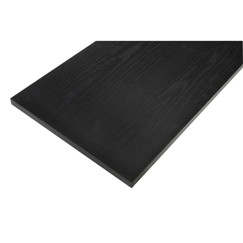 Rubbermaid Tablette en bois de base, 12 x 48 po, noire