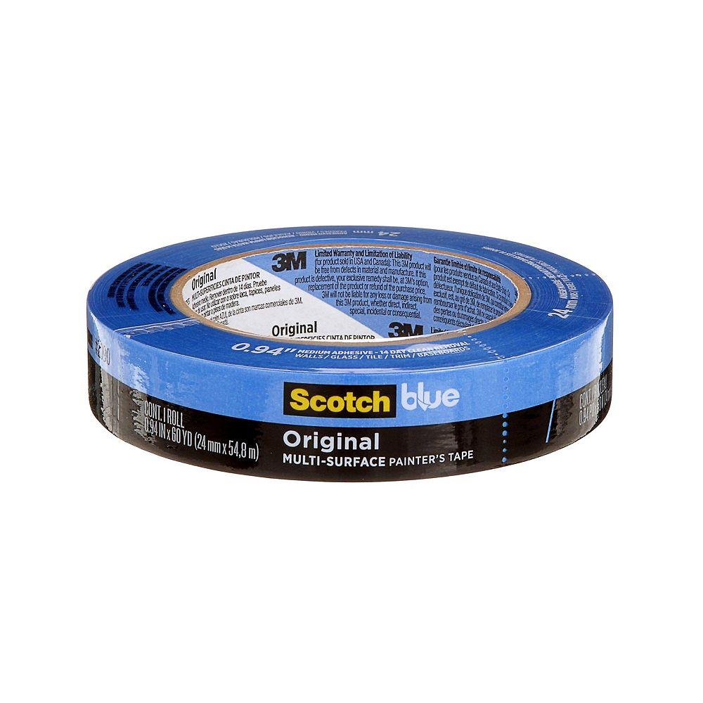ScotchBlue Original Multi-Surface Painter's Tape, 2090-24EC, 0.94 in x 60 yd (24 mm x 54.8 m)