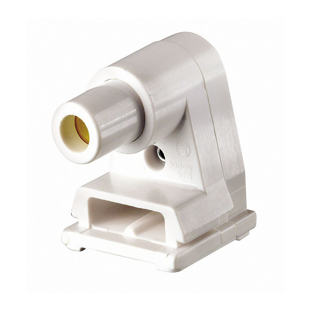 Leviton Slimline Fluorescent Lamp holder W/Plunger