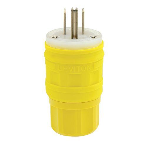 Leviton 15 Amp Wet Guard Plug Nema 5-15p