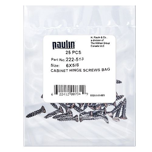 Papc 6x5/8 Cabinet Hinge Screw 25Pcs