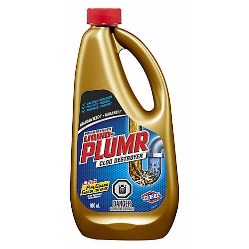 Déboucheur complet de puissance professionnelle Full Clog Destroyer de Liquid-Plumr, 900 mL