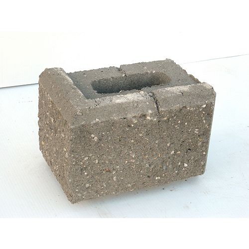 Oldcastle Allan Block 6 Degree 12 Inch Corner Gray