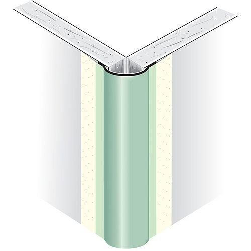 Perle d'angle extérieur en métal recouvert de papier de la CCG, bullnose 1/2 In. radius, 8 Ft.