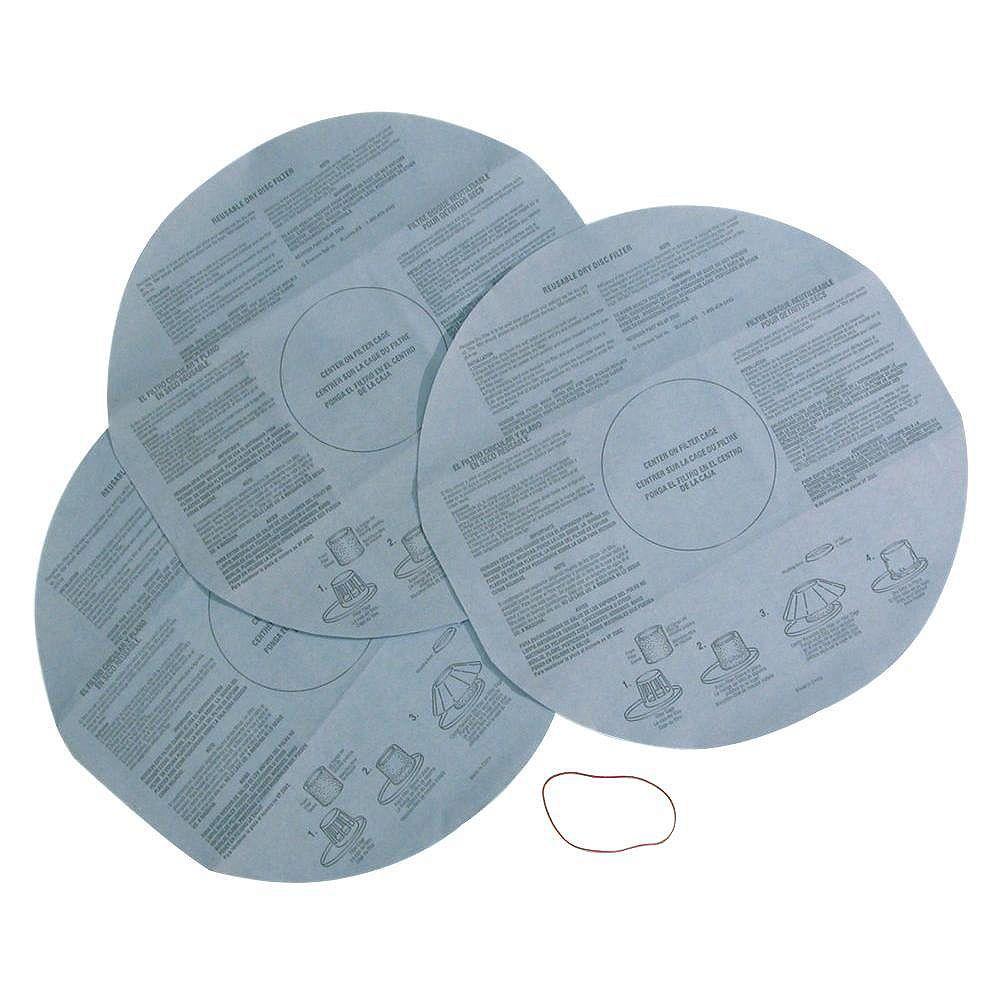 Multi-Fit Filtres en tissu pour aspirateurs secs/humides de 9 litres et moins (paquet de 3)