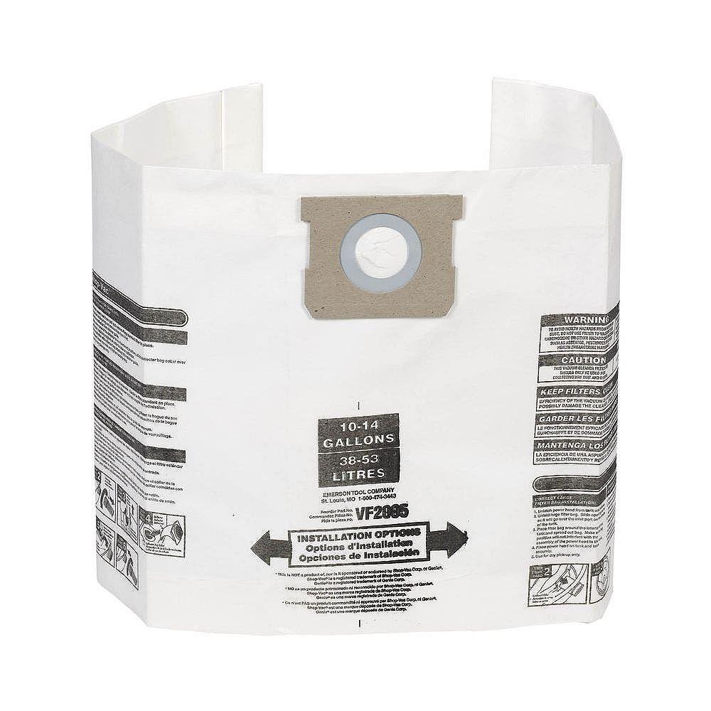 Multi-Fit Sacs à poussière pour les aspirateurs Shop-Vac et MAXIMUM 38 à 53 l (10 à 14 gal.) - Paquet de 3