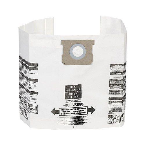 Sacs à poussière pour les aspirateurs Shop-Vac et MAXIMUM 38 à 53 l (10 à 14 gal.) - Paquet de 3