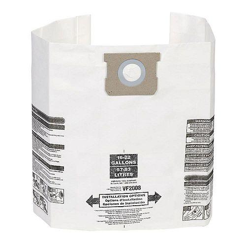 Sacs à poussière pour les aspirateurs Shop-Vac et MAXIMUM 57 à 83 l (15 à 22 gal.) - Paquet de 3