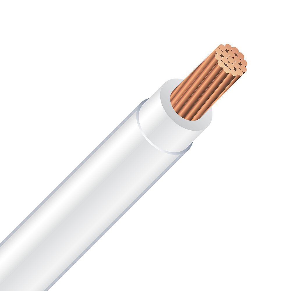 Southwire Electrical Cable - Copper Electrical Wire Gauge 6/19. T90 6/19 WHITE - 300M