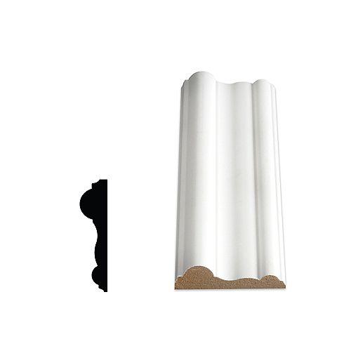 Alexandria Moulding 5/8-inch x 2 1/2-inch x 96-inch MDF Primed Fibreboard Chair Rail