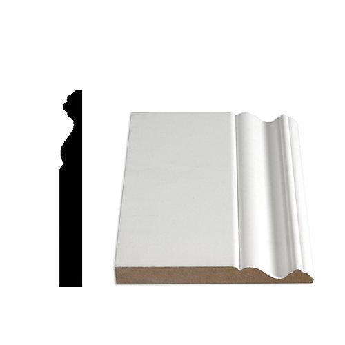 5/8-inch x 5 9/16-inch x 96-inch Colonial Primed Fibreboard Baseboard Moulding
