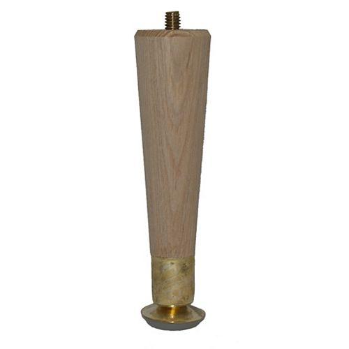 Hardwood Round Taper Leg Hardwood 1-1/2 In. x 1-1/2 In. x 6 In.