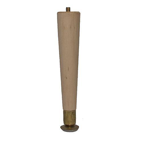 Hardwood Round Taper Leg Hardwood 1-1/2 In. x 1-1/2 In. x 8 In.