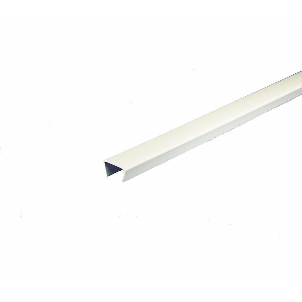 Alexandria Moulding Bande de chant d piétagère en PVC, blanc - 1,27cm x 244cm (1/2 po x 8 pi)