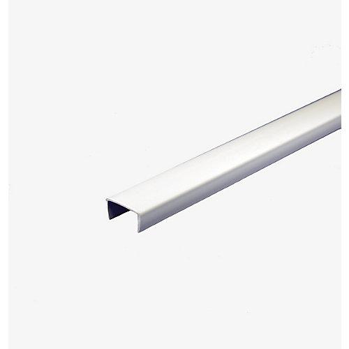 Bande de chant d piétagère en PVC, blanc - 1,58cm x 244cm (5/8 po x 8 pi)