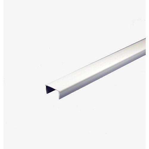 PVC Shelf Edging, White 5/8 In. x 8 Ft.