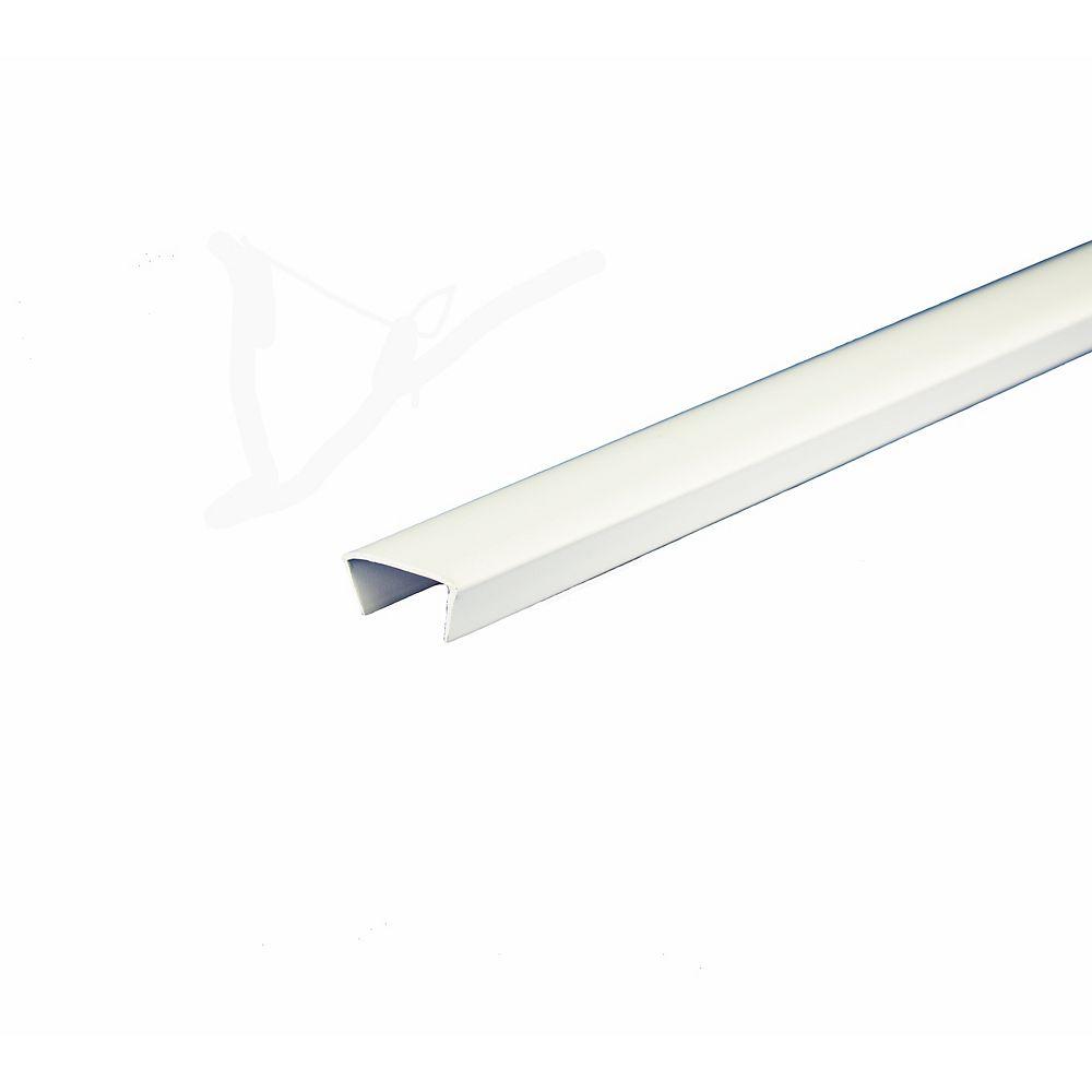 Alexandria Moulding Bande de chant d piétagère en PVC Blanc - 1,9cm x 244cm (3/4 po x 8 pi)