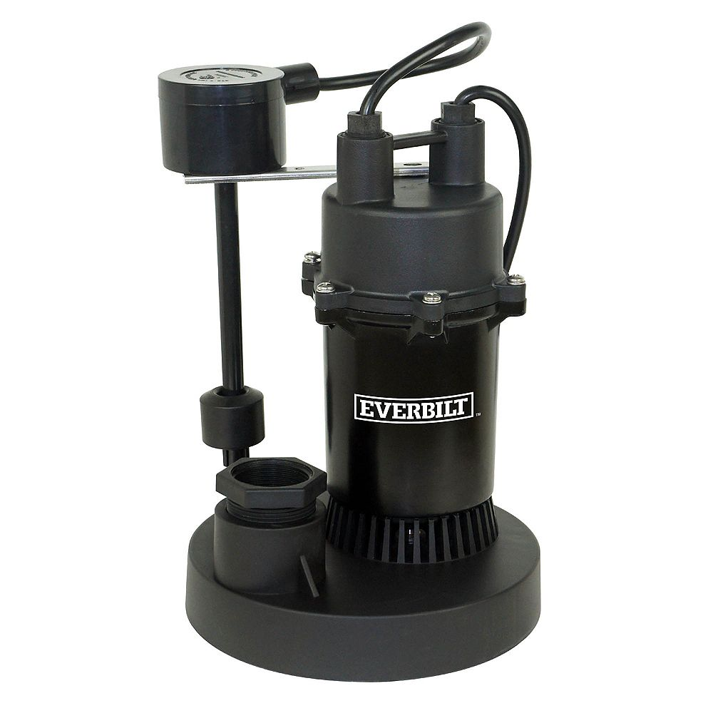 Everbilt 1/3 HP Aluminum Sump Pump w/Vertical Switch