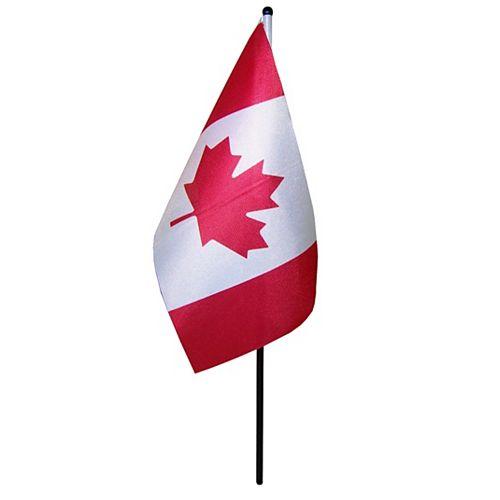 Flags Unlimited Drapeau canadien de table 5 po x 10 po