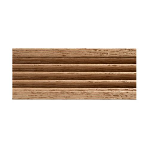 3/8-inch x 3-inch x 7 ft. Oak Fluted Casing