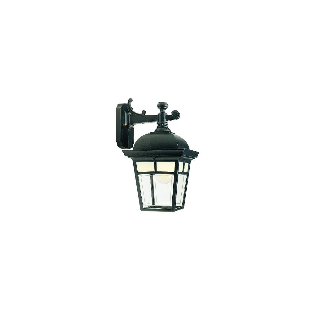 Snoc Imagine, Downlight Wall Mount, Frosted Pattern Glass Panels, Black