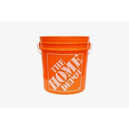 Orange Home Depot Logo Bucket, 19 L