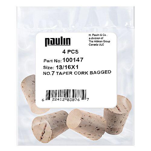 13/16X1 #7 Tapered Cork 4pc.