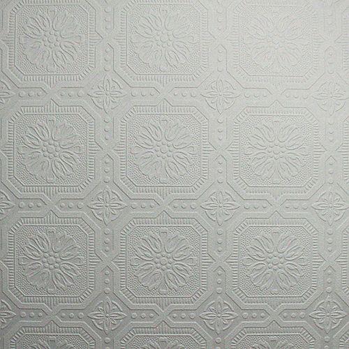 Dalle de Plafond Papier Peint Peinturable Blanc