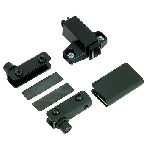 Black Pivot Hinge Set for Glass Doors