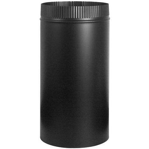 Imperial 6-inch x 12-inch Stove Pipe in Matte Black