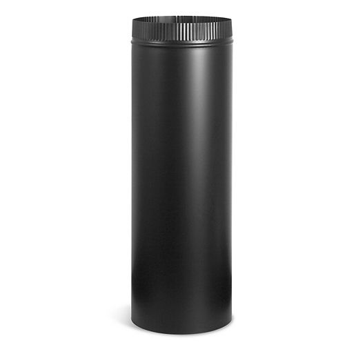 Imperial 7-inch x 24-inch Stove Pipe in Matte Black