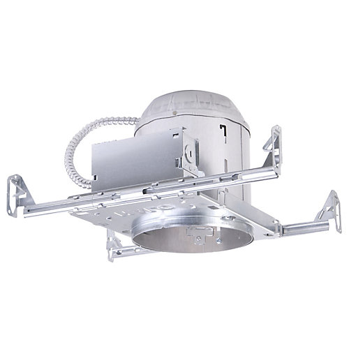 E26 6-inch Aluminum Recessed Lighting Housing for New Construction Ceiling, Insulation Contact, Air-Tite