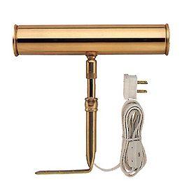 7-inch Slimline Picture Light in Brass