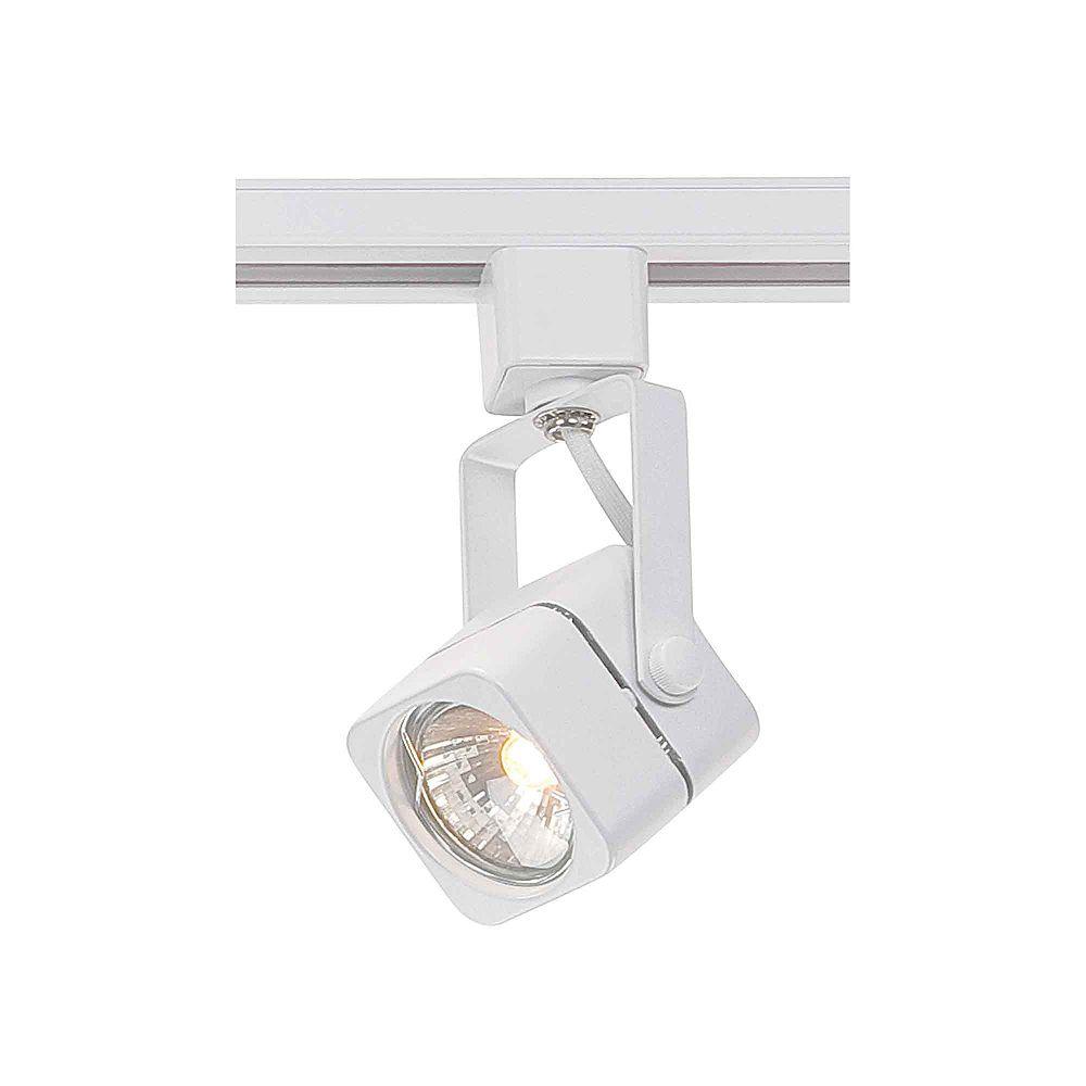 Hampton Bay Lampe halogène à 1ampoule pour rail d'éclairage, blanche