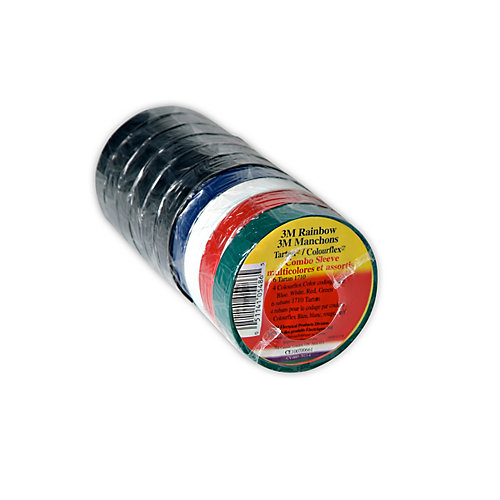 Rainbow Tartan/Colourflex Combo Sleeve 6 Tartan 1710 and 4 Colourflex Coding Tape