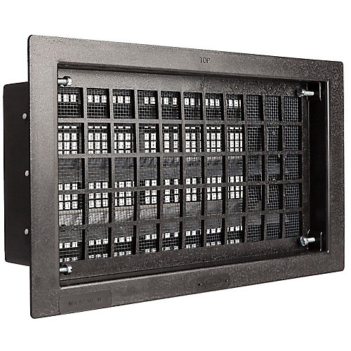 16 inch x 8 inch Black Replacement Foundation Vent Automatic