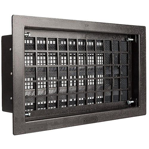 GAF Master Flow 16-inch x 8-inch Automatic Open/Close Foundation Vent in Black