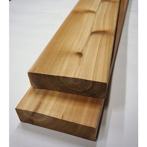 2 x 6 x 8 Prime cèdre Decking (2x6x8)  (2x6)