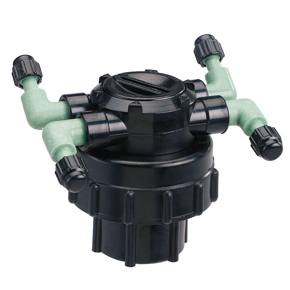 Orbit DripMaster Manifold Quadruple Réglable