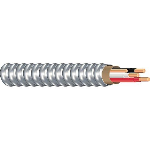 Southwire Câble électrique blindé en cuivre de calibre 12/2. AC90 12/2  150 M